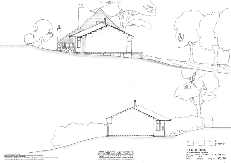 W and E elevations